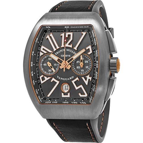 Franck Muller Vanguard Herren-Armbanduhr Armband Leder Automatik 45CCGRYGRYGLD