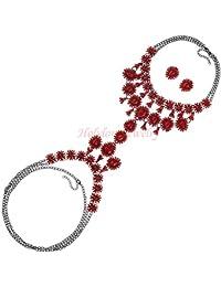 40835aae03e6 Holylove 5 Colores Mujer Cadena del Cuerpo y Pendientes Novedad Mode Collares  Joyería 1 Conjunto…