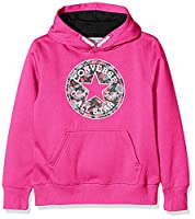 Converse Girl's Print Filled Chuck Patch Jumper, Pink (Mod Pink), Large (Manufacturer Size:12-13 Years)
