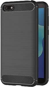Nero Custodia Huawei Y5 2018 Silicone Molle Black Cover per Huawei ...
