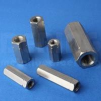 Gewindemuffen M10 X 40 Sechskant Edelstahl A2 (VPE = 5 Stück) | Sechskant-Muffen M10x40 | Langmuttern | Abstandshalter | Schildhalter | Verbindungsmuttern | Distanzmuttern | Verbindungsmuffen