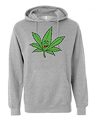 Cannabis Leaf Laughing T-Shirt Unisex Pullover Hoodie