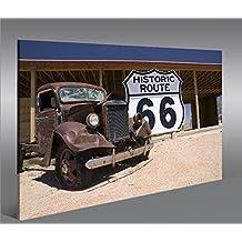 Imagen imágenes en lienzo Ruta 66Arizona Vintage Car 1P XXL Póster Lienzo Cuadro de decoración salón Marca Islandburner