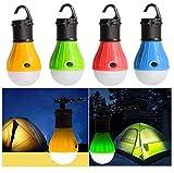 Camping-Laterne mit Haken, 3 LEDs, 100 Lumen, Zelt-Lampe, Camping-Laterne, Notfall-Lampe, batteriebetrieben, wasserdicht, tragbar, für Wandern, Angeln, Camping, Haushalt, Auto, Reparatur, ECT