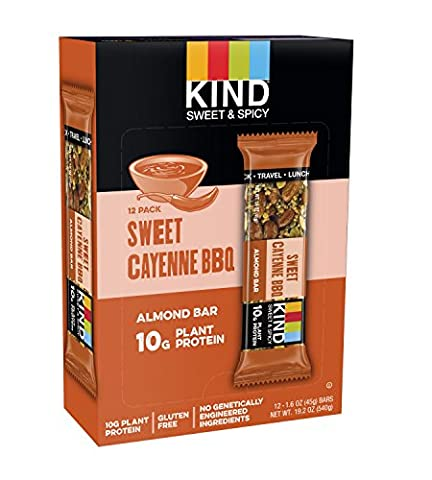 STRONG & KIND Protein Bars, Honey Smoked BBQ Savory Snack Bars, 1.6 Ounce, 12 Count