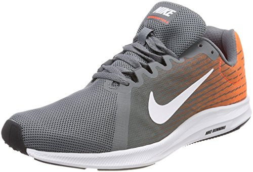 Nike Herren Downshifter 8 Laufschuhe, Grau (Cool Grey/White-Hyper Crimson-Dark Grey 003), 40.5 EU