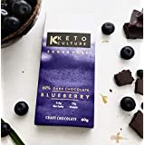 Nepenthe Coffee and Chocolates The Keto Culture Unsweetened Sugar-Free Blueberry Dark Chocolate,  60 g