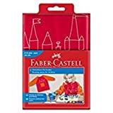 Faber-Castell 201204 - Maglia da pittore per bambini, misura universale, Colori assortiti( lampone/ arancione rosso)