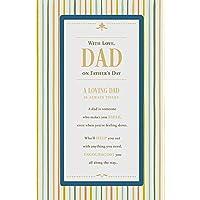 Tarjeta para el día del padre con texto en inglés Loving Dad