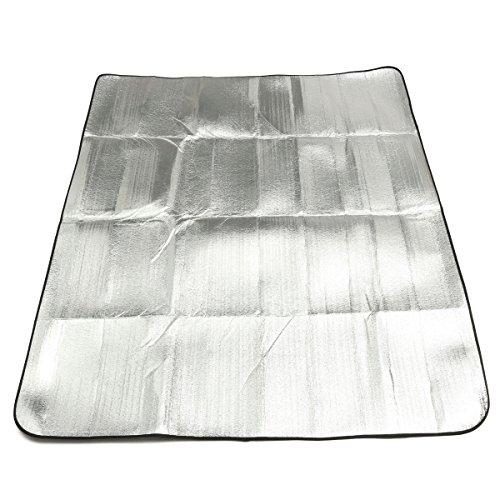 ddanke wasserfest faltbar doppelseitig Aluminium Folie Schlafsack Matratze Picknick Pad für Outdoor Camping Wandern, 240*240cm (Folien-schlafsack)