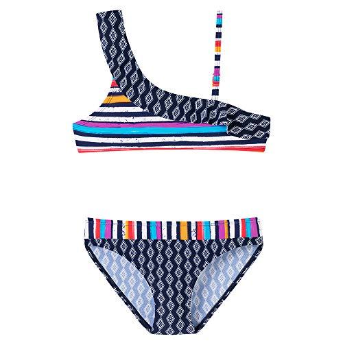 Schiesser Mädchen Aqua Bustier-Bikini Badebekleidungsset, Blau (Admiral 801), (Herstellergröße: 152) -
