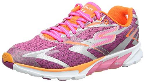 Skechers Go Run 4 - Zapatillas de running de material sintético para mujer Rosa Rose (Hpor) 38