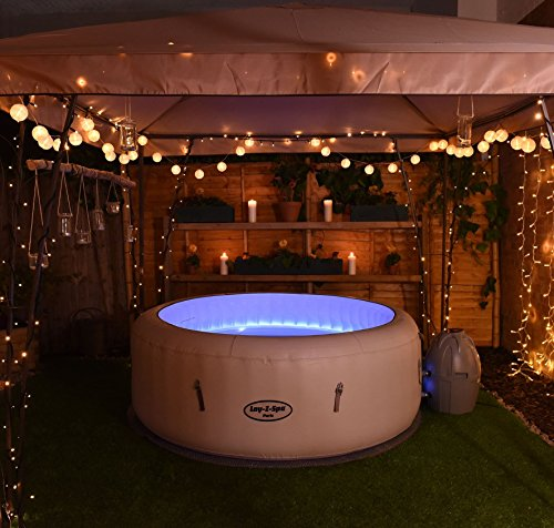 Lay z spa paris hot tub with led lights airjet for 4 6 tub