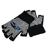Best Yoga Gloves - SwirlColor Non Slip Yoga Pilates Fingerless Exercise Grip Review