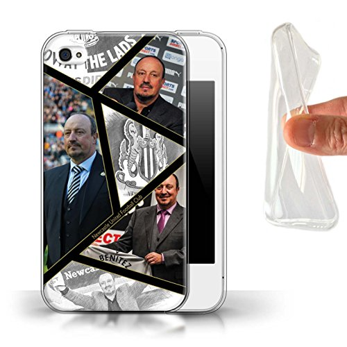 Offiziell Newcastle United FC Hülle / Gel TPU Case für Apple iPhone 4/4S / Pack 8pcs Muster / NUFC Rafa Benítez Kollektion Montage