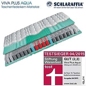 Schlaraffia Viva Plus Aqua Taschenfederkern Plus Matratze 90x200 H3