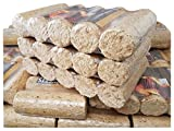 Holzbriketts 30 kg (3 x 10 kg) HIT Premium DIN EN 14961-3 - Made in Germany !!!