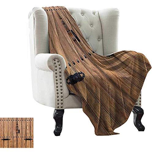 mallcentral-EU Rustikale Decken Holztür mit Eisen-Stil Vorhängeschloss Ausgang Geschlossener Raum des Gebäudes Bild Decke für Bettcouch Hellbraun