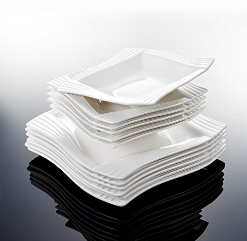 MALACASA, Série Amparo, Services de Table Complets Porcela