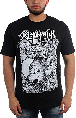 Skeletonwitch Wolf-Maglietta da uomo nero Large