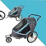Falten Sie Fahrradanhänger, Kinder Jogging Kinderwagen, Combo 2 in 1 Kind Jogger Trailer, kann 2 Kinder Kinderwagen Anhänger halten