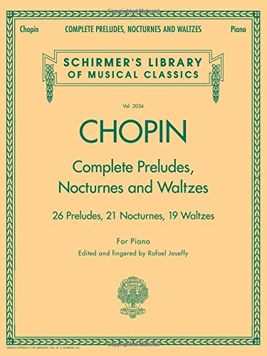 Frederic Chopin Complete Preludes, Nocturnes And Waltzes (Updated Ed) par Divers