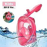 Homful Masque de Plongée, Masque Snorkeling Plein Visage 180° Visible, Antibuée Anti-Fuite sous-Marine, Snorkel Masque avec la Support pour Caméra de Sport, Adapté pour Enfant