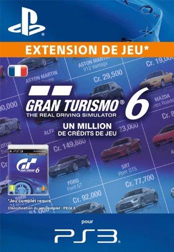 1 million de crédits de jeu pour Gran Turismo 6 [Téléchargement]