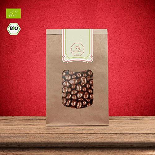 süssundclever.de® Bio Erdnüsse in Vollmilchschokolade | Schokonüsse | 500 g | Premium Qualität: hochwertiges Naturprodukt | plastikfrei abgepackt in einer Bio-Verpackung
