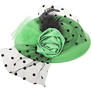 Damen Pillbox Hütchen Neda Rose Bow Vintage Haarschmuck