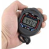 Malloom Digital Professional Handheld LCD Chronograph Sports Stopwatch Timer Stop Watch