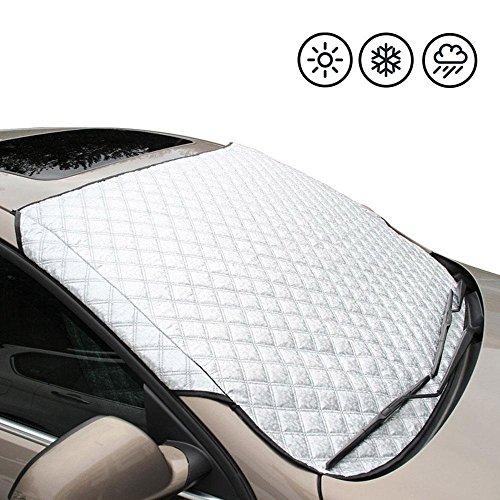 Aolvo Universal-Sonnenschutz für Windschutzscheibe, Schnee und Eis, Schnee, Eis und Frost- und Baumwolle, dick, Schutz für die meisten des Autos, 56cm x 91cm (B x T x H)