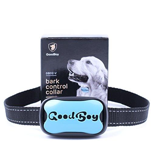Die Kontrolle (Hunde trainingshalsband für kleine und mittelgroße Hunde mit Vibration. Kontrolle von übermäßigem Bellen mit diesem einfachen Antibell Halsband. Sicher und human ohne Schock (GoodBoy, Blau))