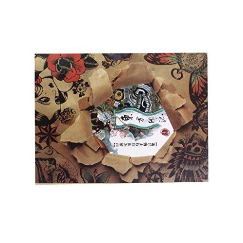 Livre De Référence De Tatouage 108 Pages Fille Crâne D'animal Feuille D'instruction De L'image