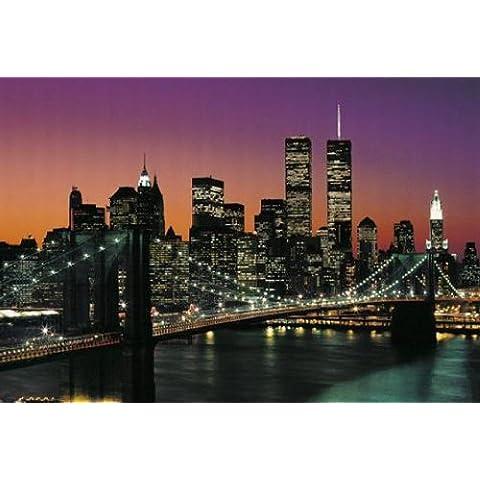 1art1 40563 Nueva York - Póster gigante de Manhattan en 8 partes (368 x 254 cm)