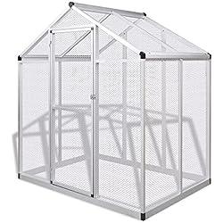 SENLUOWX Cómodas y Seguras Pajarera de Exterior de Aluminio Mantener a Los Animales Pequeños 188x122x194 cm