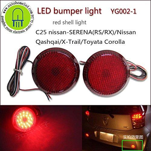 2pc-x-yg002-rear-led-reflector-bumper-light-brake-lamp-for-c25-serena-rs-rx-qashqai-x-trail-scion-xb