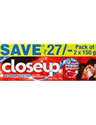 Closeup Ever Fresh Red Hot Gel Toothpaste - 150 g (Pack of 2, Save Rupees 27)