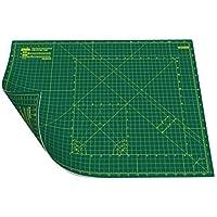 ANSIO A2 de doble cara. Autocuración 5 capas de tapete de corte Imperial / Métrico 22.5 pulgadas x 17 pulgadas (59 cm x 44 cm) - Verde/Verde
