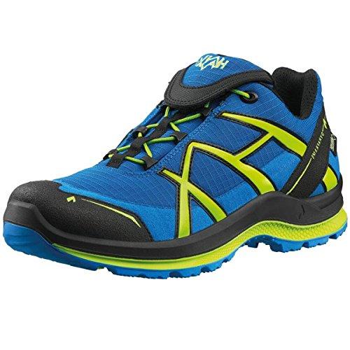 Haix Black Eagle Adventure 2.0 ★ Outdoor-Schuhe | Blue-Citrus | Low | Gore-Tex | Schnellverschluss | Rutschfest | Wasserdicht ✔ Atmungsaktiv ✔ Spitzenschutz ✔ Ultraleicht (41,5) (Neon Laufschuhe Nike Frauen)