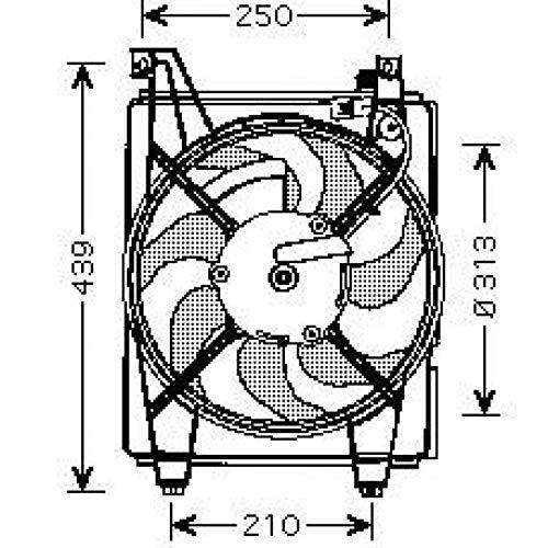 PIECES AUTO SERVICES Ventilateur condenseur de climatisation Hyundai Elantra de 00 à 11 - OEM : 977862D000