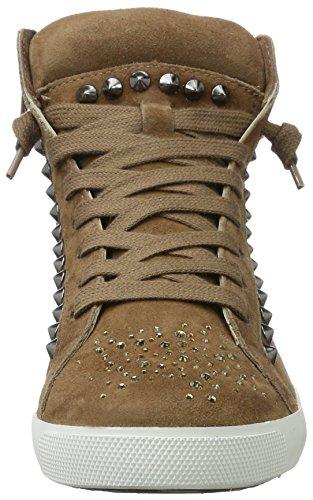 Kennel und Schmenger SchuhmanufakturQueens - Scarpe da Ginnastica Basse Donna Braun (cuir Sohle Weiss)