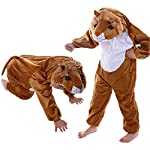 Lion Costume is easy to wear and child is able to easily carry its headgear.It includes jumsuit with its attached headgear of lion face.This costume used by both BOY/GIRL. It is free in size.