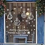 jeeri 4 Ensembles Noël Flocons De Neige Stickers Vitres Autocollant Noel fenetre réutilisable Autocollants Décoration Fenêtre PVC Stickers pour Magasin, Maison, Chrismas