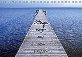 Stege - Wege auf dem Wasser (Tischkalender 2019 DIN A5 quer): Fotokalender mit verschiedenen Stegen und Gewässern im Chiemgau (Monatskalender, 14 Seiten ) (CALVENDO Natur)