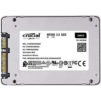Crucial MX500 CT2000MX500SSD1(Z) 2 TB (3D NAND, SATA, 2.5 Inch, Internal SSD)