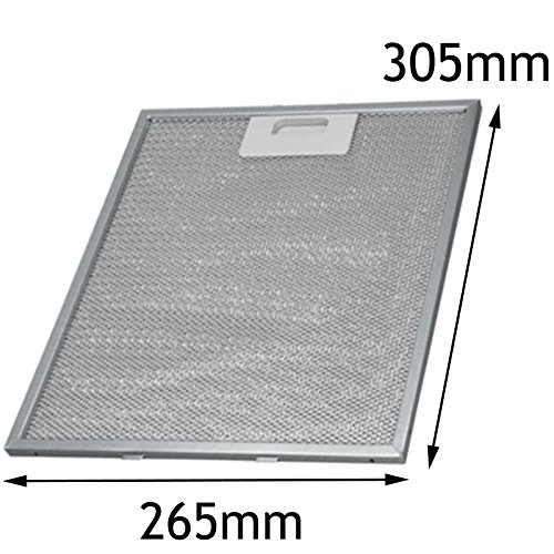 Spares2go filtre à graisse en maille en aluminium pour Whirlpool hotte ventilateur d'aération (305x 265mm) Fitment List D
