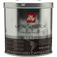 illy Iperespresso Monoarabica Brazil 21 Espresso Capsules, 141g (Pack of 1, Total 21 Capsules)