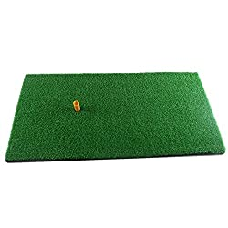 Truedays Golf Mat 12''x24'' Residential Practice Hitting Mat Rubber Tee Holder