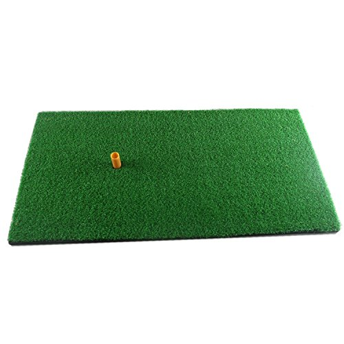 Truedays Golf Tapis De Putting Tapis D'entraînement De Golf Avec Une Caoutchouc Tee Titulaire Vert-30cm×60cm
